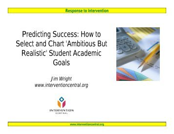 Predicting Success: How to S l t d Ch t 'A biti B t Select and Chart ...