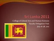 CLAHS-SriLanka - Outreach & International Affairs - Virginia Tech