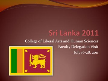 CLAHS-SriLanka - Outreach & International Affairs - Virginia Tech