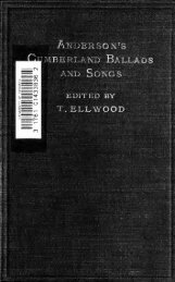 Cumberland ballads and songs. Centenary ed. Edited, with life of ...