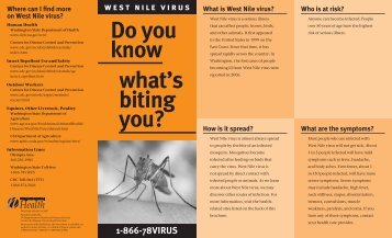 West Nile Virus: Do You Know What's Biting You? - Brochure