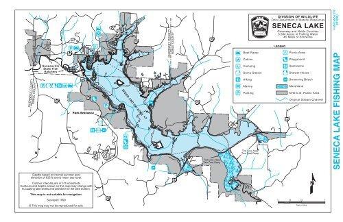 map of seneca lake Seneca Lake Fishing Map map of seneca lake