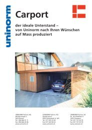 Carport der ideale Unterstand - UNINORM Technic AG