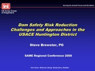 Dam Safety Risk Reduction Challenges and Approaches in the ...