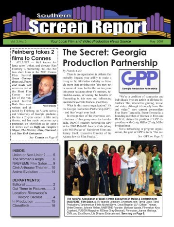 The Secret: Georgia Production Partnership - Southern Screen Report