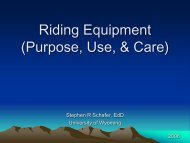 Riding Equipment - UT Extension