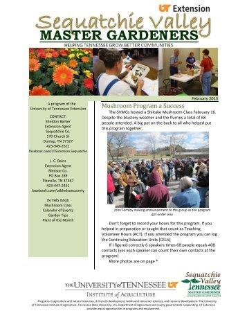 Feb MG newsletter - UT Extension - The University of Tennessee
