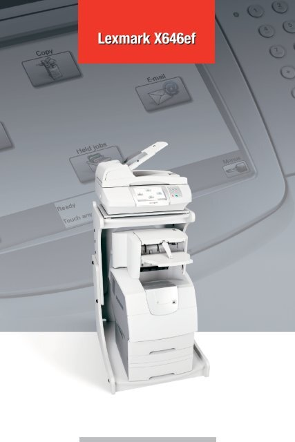 Lexmark X646ef MFP Printer Network Scan Driver for Windows Mac
