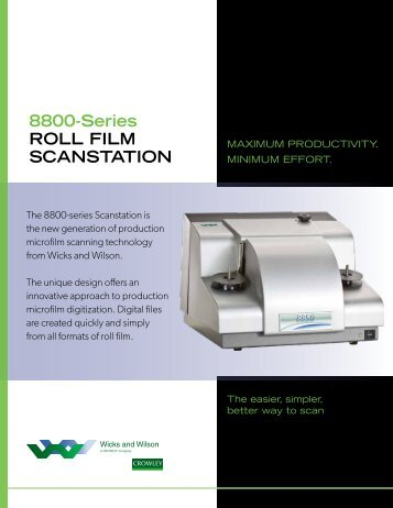 8800 Brochure (PDF) - Wicks and Wilson