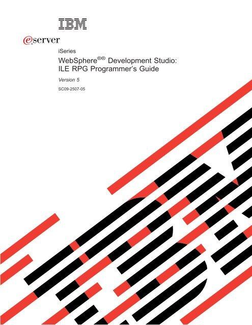 WebSphere Development Studio: ILE RPG Programmer's Guide - IBM