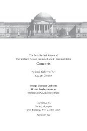 Concert Notes - National Gallery of Art