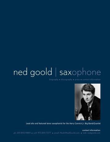 ned goold | saxophone