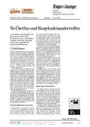 24. Dezember 2007, Tages Anzeiger - Tischlein deck dich