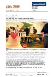 24. Dezember 2007, Tages Anzeiger online - Tischlein deck dich