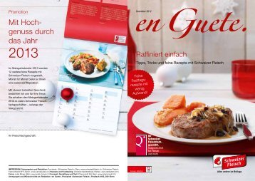 Mit Hoch- genuss durch das Jahr - Schweizer Fleisch-Fachverband ...