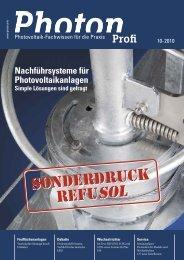 Sonderdruck Photon Profi 10-2010 - Europe - REFUsol