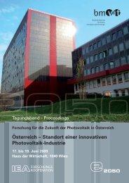 Österreich – Standort einer innovativen Photovoltaik-Industrie