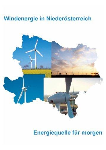 Windenergie in Niederösterreich - Geographie und Wirtschaftskunde