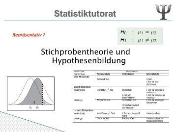 Hypothesen und Stichprobentheorie
