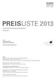 Preisliste Steinkörbe für Private - bei Guber Natursteine AG