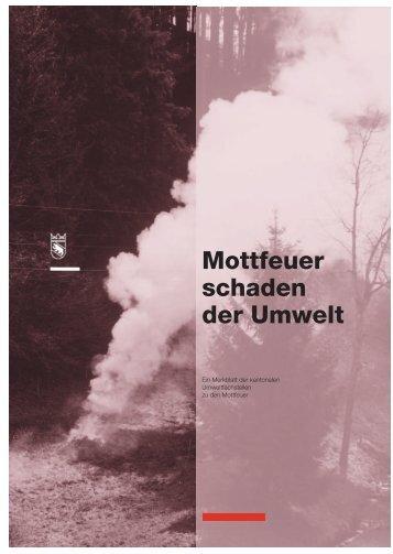 Mottfeuer schaden der Umwelt