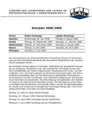 Ferien bis 2016 - vLw Stiftung NRW eV