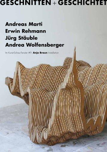 GESCHNITTEN + GESCHICHTET - Andrea Wolfensberger