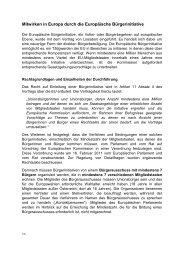 Mitwirken in Europa durch die Europäische Bürgerinitiative