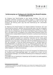 Festlegung der Identität eines Biozid-Produktes