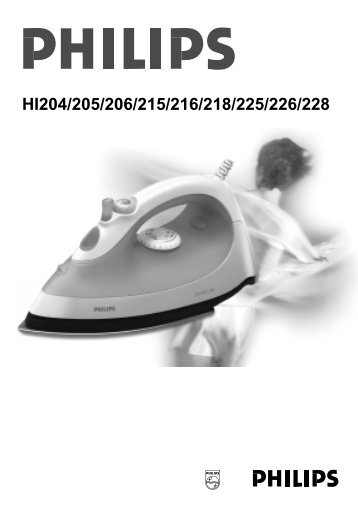 HI204/205/206/215/216/218/225/226/228 - Philips