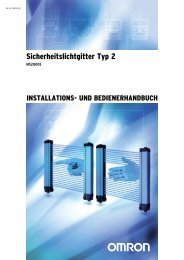 MS2800E Bedienerhandbuch - Omron Europe