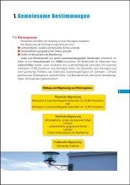 Gemeinsame Bestimmungen - Raumordnung und Regionalpolitik