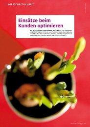 """Leitartikel """"Einsätze beim Kunden optimieren"""" - Cito Aufenacker"""