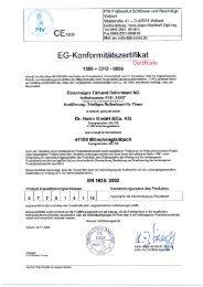 CE-Zertifikat für das Rollenband NG - Über Dr. Hahn