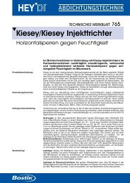 Technisches Datenblatt - Bostik