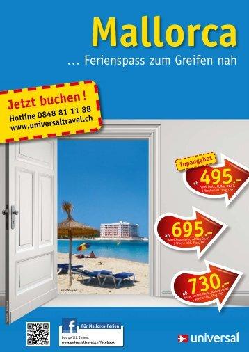 Ferienspass zum Greifen nah - Universal Flugreisen AG