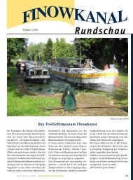 Ausgabe 3/2009 - in der Region Finowkanal