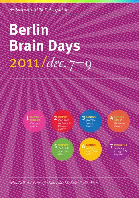 Programm and Abstract Booklet (pdf) - Neuroscience Berlin
