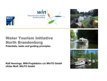 Water Toursim Initiative Eberswalde - Urbact