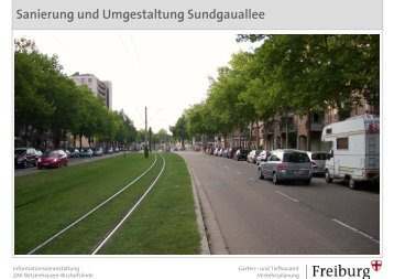 Sanierung und Umgestaltung Sundgauallee - ZAK