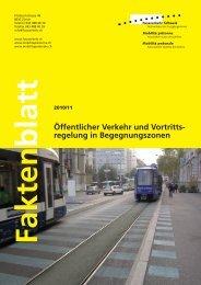 Öffentlicher Verkehr und Vortrittsregelung in Begegnungszonen