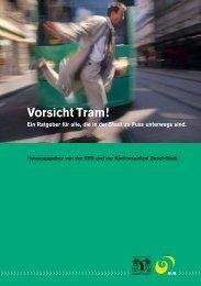 Vorsicht Tram – BVB Sicherheitsbroschüre - Senioren-Forum Basel