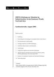 Emploi ORTE-Erhebung zur Situation im ... - Treffpunkt-Arbeit