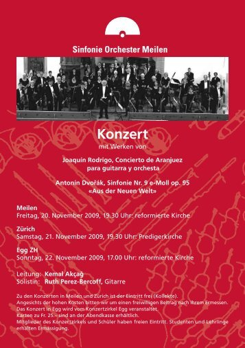 Konzert - Sinfonie Orchester Meilen