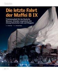 Die letzte Fahrt der Maffei B IX - Deutsche Bahn AG