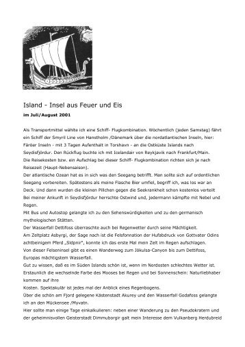 Island - Insel aus Feuer und Eis - Wandern-bilder-siegerland.de