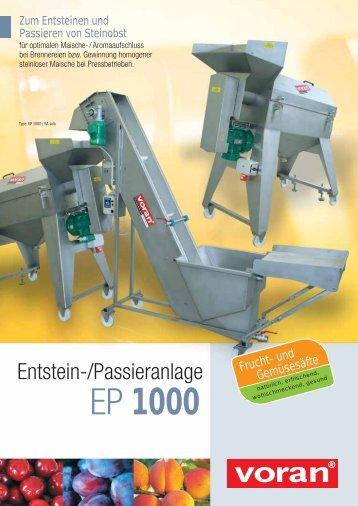 EP 1000 - voran Maschinen GmbH