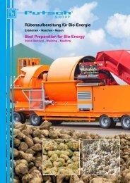 Rübenaufbereitung für Bio-Energie Beet Preparation for Bio-Energy