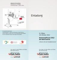 Einladung und Programm für St Pölten - Kommunalnet