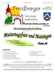Ausgabe 04/2011 - Gemeinde Friedberg